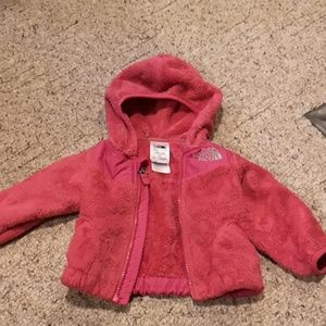 The North Face 3-6 Month Pink Plush Jacket